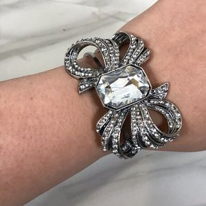 Jewelry - Large Bow Bracelet with Crystals